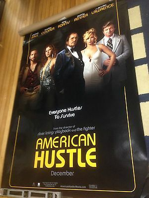 American Hustle ORIGINAL AUTHENTIC Huge MOVIE POSTER, 2 Sided, 4x6