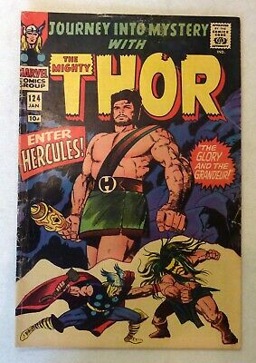 Journey Into Mystery 124 Thor VG+ Silver Age 1966 Marvel Comics 1st Hercules