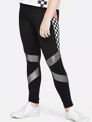 Justice Girls Size 20 Plus CHECKERBOARD Pocket Leggings New with Tags