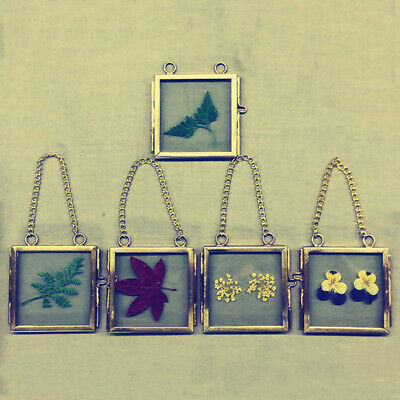 Vintage Antique Brass Glass Picture Photo Frame Hanging Portrait Home Decor Gift