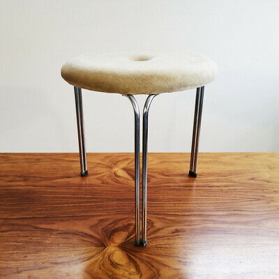 Tacke Chrom- Hocker 70Er Jahre Space Age Vintage Design Chrome Stool 1970'S