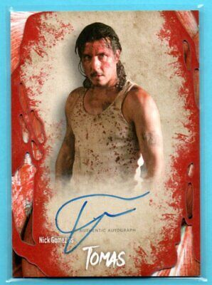 2016 Topps AMC THE WALKING DEAD Nick Gomez as Tomas ON-CARD AUTO