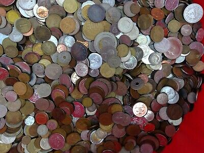 """2 POUND """"BULK"""" WORLD FOREIGN COIN LOTS """"Kids Love Coins!"""" Nice Mix"""