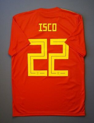 876c68225 4.8/5 Spain #22 Isco 2018 Football Soccer Home Jersey Shirt size M Adidas