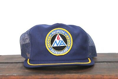 Vintage North American Combustion Made In USA Trucker Hat Snapback Baseball Cap