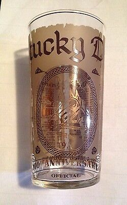MISTAKE 1974 Kentucky Derby Mint Julep Glass Cannonade 100th Running EXC COND