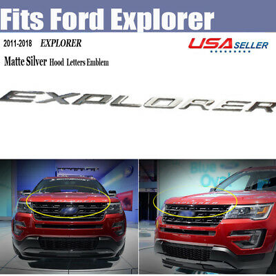 Matte SILVER EXPLORER Emblem Badge Plated logo sticker For Ford 2011-2017 Sporty