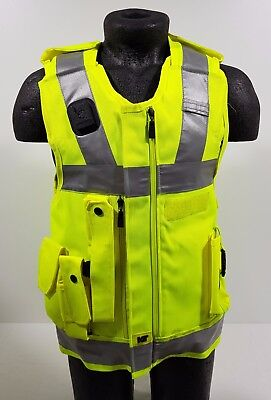 COVER ONLY! Ex Police KIT Hi Vis Stab Body Armor Vest Cover EXTRA SMALL H5 SC29