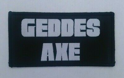 GEDDES AXE BRITISH HEAVY METAL BAND OFFICIAL WOVEN PATCH L/E 100pcs NWOBHM