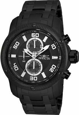 Invicta Pro Diver 24157 Men's Round Black Chronograph Stainless Steel Watch