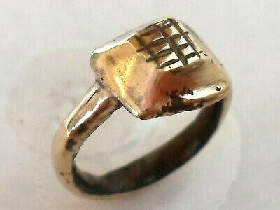 Unique Gifts,Detector Find & Polished, 200-400 A.d Roman/Egyptian Bronze Ring.
