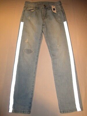 Gap kids blue jeans, size 8 slim girlfriend.  NEW WITH TAGS.  Adjustable waist