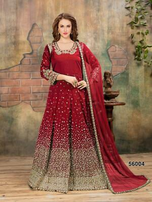 Pakistani Designer Anarkali Suit Bollywood Party Wear Indian Eid Dress So25 Other Women's Clothing