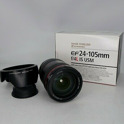 Canon EF 24-105mm f/4L IS USM Lens - With Box and Accessories