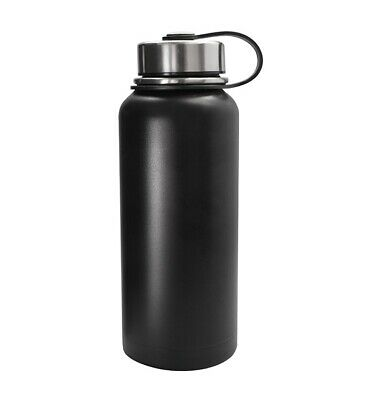 Black Stainless Steel Vacuum Insulated Double Wall Bottle - 32 Oz Water Thermos