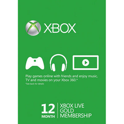 Xbox Live Gold 12 Month Subscription Card [Microsoft]