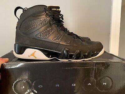 free shipping f7314 c00f1 Air Jordan 9 Retro -302370-004- Black-Citrus-White  euc