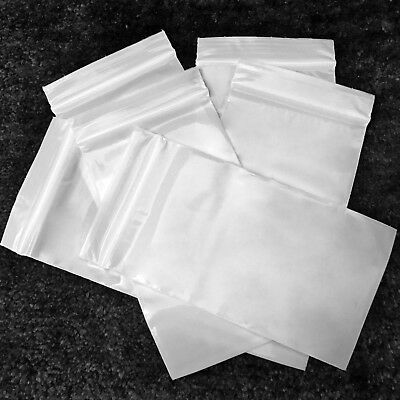 "3050 Solid White Color Plastic 100 Ziplock Baggies 3"" X 5"" USA Made Discrete"