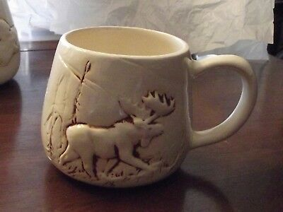 Vintage Fairbanks Alaska Clay Mug Coffee Mug Moose