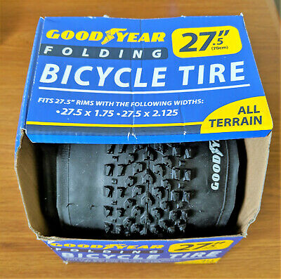 Bicycle Tire 27.5 x 1.75 And 2.125 All Terrain Tread Goodyear Folding Tire *NEW*