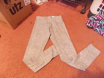 justice- --size 8--- gray -leggings-full length--wide band---nwt