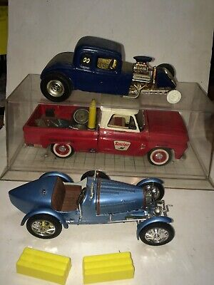 3 Vintage 1964 Chevy Pickup Truck,1927 Bugatti 35B,Hot Rod Built-Up Models