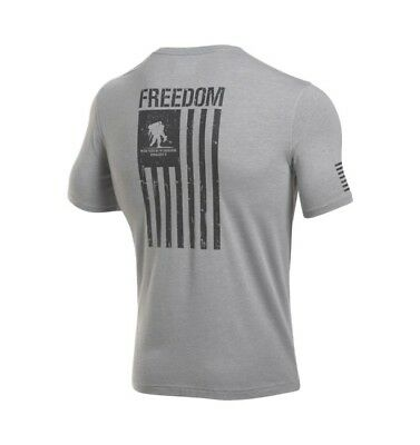 62feef14 Under Armour Shirt, Men's 3XL, WWP Freedom Flag, Wounded Warrior Project SS,