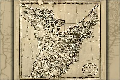 Poster, Many Sizes; Map Of The United States Of America 1783 P2
