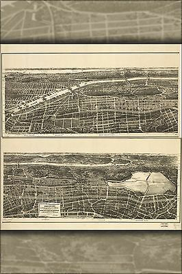 Poster, Many Sizes; Map Of 23Rd & 24Th Wards New York City 1897