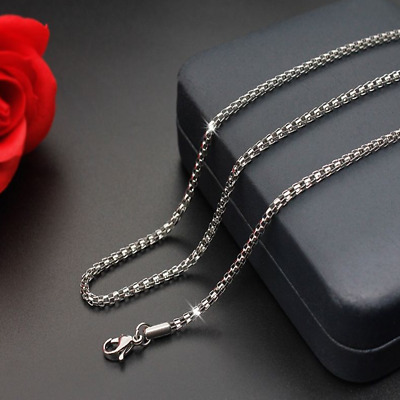 Hot Man Women 316L Stainless Steel 2mm/3mm/4mm/5mm Silver Keel Chain Necklace