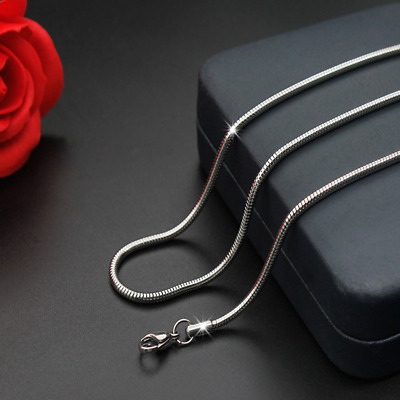 Hot Man Women 316L Stainless Steel 2mm/3mm/4mm/5mm Silver Snake Chain Necklace