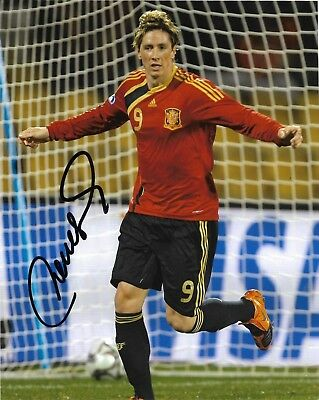 Spain World Cup Fernando Torres Autographed Signed 8x10 Photo COA #2