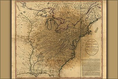 Poster, Many Sizes; Map Of The United States Of America 1783