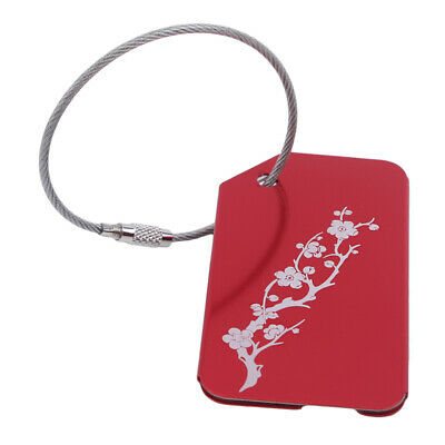 Metal Travel Luggage Tags Suitcase Name Tag Floral Shaped Luggage Accessories BS