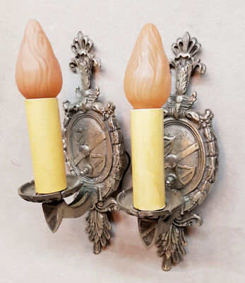 Pair of Vintage Wall Sconces Light Fixtures.