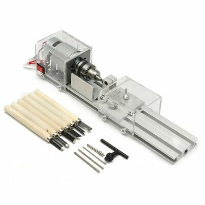 100W Cnc Mini Lathe Tool Woodworking Wood Beads Milling Grinding Drill Machine