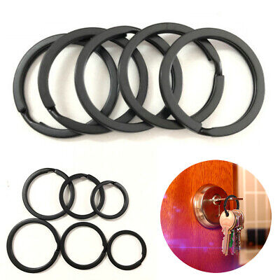 Wholesale 5Pcs/Set Black Key Rings Chains Split Ring Hoop Metal Loop Accessory