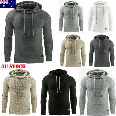 Mens Autumn Winter Hoodie Hooded Coat Outwear Sweater Sweatshirt Jumper Jacket