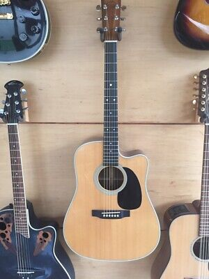 Acoustic Electric Guitars Reduced Flagship Guild Westerly Usa Electro Acoustic Guitar F65ce Late 90s Case Guitars & Basses