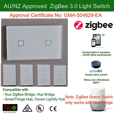 AU Approved Smart ZigBee Light Switch or Dimmer Power Point Google Home Alexa