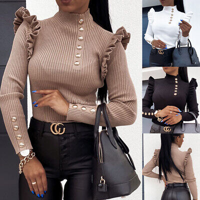 Plus Size Women Zip Pullover Tops Ladies V Neck Loose Casual Work T Shirt Blouse