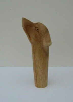 WOODEN CARVED DOG  HEAD  STICK Handle  for Walking stickmaking