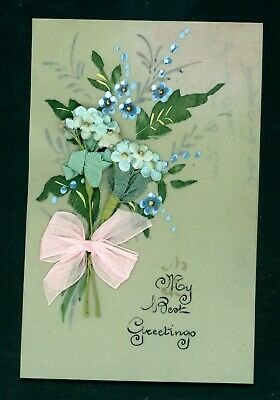 Celluloid Greetings Novelty Postcard.  Good Condition   (A692)