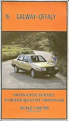 Ordnance Survey 1/2 inch Map No 15 GALWAY & OFFALY - 1980s