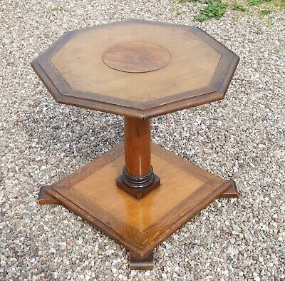 Antique/Vintage Octagonal Shaped Occasional Table / Lamp Table / Hall Table