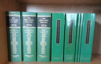Job Lot of 8 Volumes of The Civil Court Practice 2016 Books Legal Law Solicitor