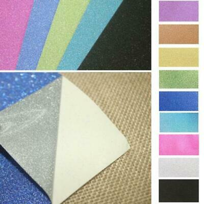 10 x A4 sheets self adhesive vinyl Glitter Scrapbooking home cutters Multicolor