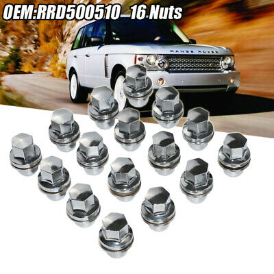 FULL STAINLESS ALLOY WHEEL NUT SET (X16 NUTS)  RRD500510 Fits RANGE ROVER SPORT