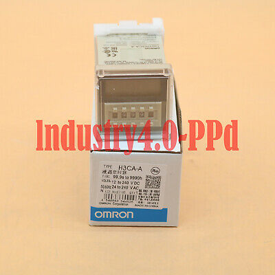 New in box Omron Timer H3CA-A H3CAA 24-240VAC/VDC One year warranty#XR