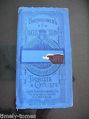 Inverness & Spey - Bartholomew's New Reduced Survey Cloth Map